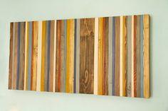 Reclaimed Wood Wall Art - Rustic Wood Decor Modern wood sculpture Customized gift