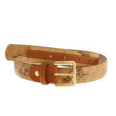 Your personal equator! Love this map-themed women's belt by Italian designer, Alviero Martini.