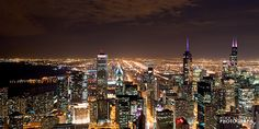 Chicago at Night, via @ChiPhotoGuy on Flickr