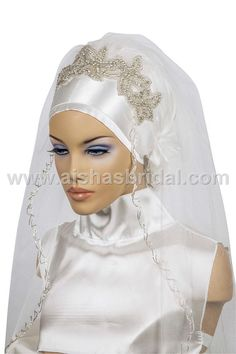 Ready To Wear Bridal Hijab Code HGT0420 by HAZIRTURBAN on Etsy