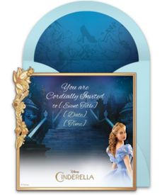 Free Cinderella invitation from The Disney Online Invitation Collection. Perfect for inviting friends to see the premiere, or a Cinderella birthday party! Cinderella Invitations, Princess Invitations, Online Invitations, Cinderella Live Action, Live Action Movie, Action Movies, Cinderella Birthday, Princess Birthday, Cinderella Princess