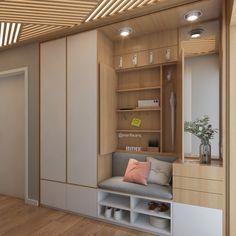Intime Halle - Flur ideen - New Ideas Home Entrance Decor, House Entrance, Entryway Decor, Home Decor, Hallway Closet, Hallway Storage, Ikea Hallway, Flur Design, Hall Design