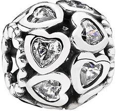 Pandora Silver Cz Love All Around Charm #jewelrypandora