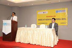 Mr. C.H. Nadiger, Regional Director, EEPC India (SR), welcomes the gathering