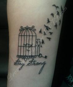 37 Best Bird Cage Tattoos Girls Images Cage Tattoos