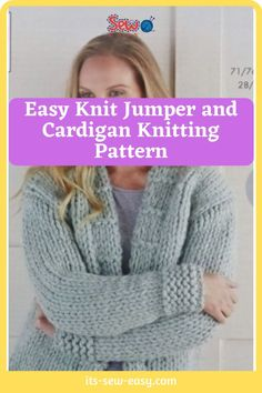 There's something irresistible about chunky jumpers and cardigans. Wearing one is like being in a warm and loving hug with no end. They are a must-have and a great challenge to intermediary knitters. Experienced ones will have an easier time completing the sweater. These easy to make jumpers and cardigans are not only warm and great way to keep the cold weather at bay but also deadly cute. #cardiganpatterns#knittedcardiganpattern#knittingpatterns#easyknitting#knittingathome#easycardiganpatterns Jumper Patterns, Knitting Patterns, Sewing Patterns, Shoulder Cut, Chunky Yarn, Getting Cozy, Simple Designs, Fancy, Jumpers