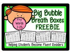 FREEBIE: High Frequency Fluency Intervention: Set 1 Fry Wo