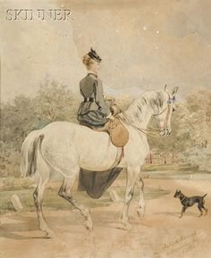 Lady out for a ride with her dog