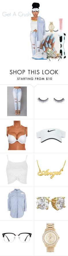 """""""Get New A Crush"""" by sohnae-mccray ❤ liked on Polyvore featuring Napoleon Perdis, Nike Golf, Topshop, GlassesUSA, Betsey Johnson and Lancôme"""