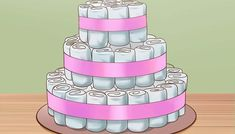 pasos para hacer una torta de pañales