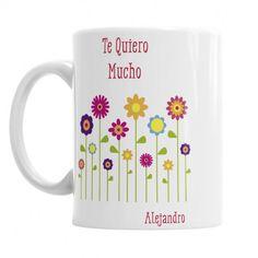 Taza Flores para Mamá  Las Mejores Tazas Originales para Mamá, El regalo Original que tu mami quiere. Las Puedes personalizar con tu nombre y el de Mamá.