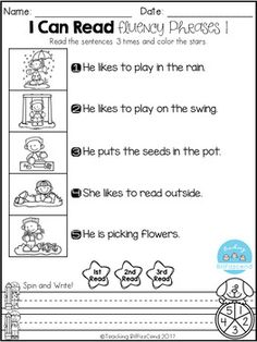 FREE Reading Fluency Phrases