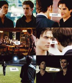 Stefan and Damon, they might fight but in the end they would die for each other!