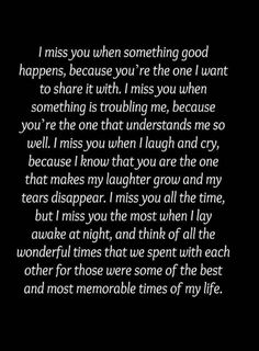 I miss talking to you. I miss your voice. I miss the comfort and support you gave me. I miss the laughter we could always share. I miss us. I miss YOU. Miss My Best Friend, Miss Mom, Miss You Dad, Best Friend Quotes, Missing Friends Quotes, Letter To Best Friend, Quotes To Live By, Me Quotes, I Miss Him Quotes