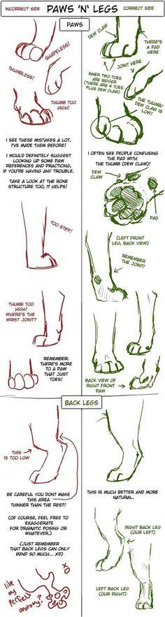 Dibujos geniales: Big Cat Paw and Leg Tutorial Source by MonicaRichardsonFanpage Drawing Techniques, Drawing Tips, Drawing Ideas, Drawing Art, Cat Paw Drawing, Anatomy Reference, Drawing Reference, Animal Drawings, Cool Drawings