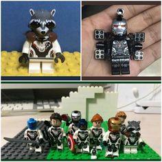 ENDGAME lego figures Lego Deadpool, Lego Marvel's Avengers, Lego Marvel Super Heroes, Lego Custom Minifigures, Lego Minifigs, Lego Friends, Lego City, Iron Man Cartoon, Nickelodeon Spongebob