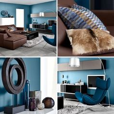 color is good as this bluebrown living room mostly looking at wall blue