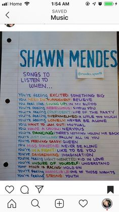 Songs to listen to when - Shawn Mendes Music Mood, Mood Songs, Music Lyrics, Music Songs, Lyrics Of Songs, Song Lyric Quotes, Life Lyrics, Shawn Mendes Lieder, Musica Love