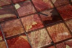 Red Glass Tiles - Bing Images for around the fireplace