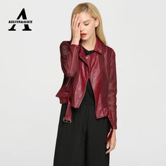 Biker Leather Jacket Women Jaqueta Couro Feminina PU Leather Women's Short Motorcycle Grid Hollow Out Jacket Chaquetas Mujer