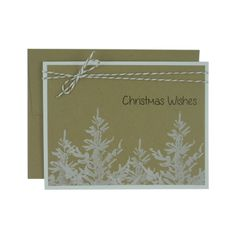 Christmas Card 10 Pack Kraft with White by EmbellishbyJackie