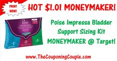 ***HOT $1.01 MONEYMAKER @ Target & Walgreens ~ GET COUPONS NOW*** Score a $1.01 MONEYMAKER Poise Impressa Bladder Support Sizing Kit deal at Target and Walgreens! Click the Picture below to get all of the details ► http://www.thecouponingcouple.com/1-01-moneymaker-poise-impressa-bladder-support-sizing-kit/  Help us out and use the SHARE button below the Picture to SHARE this post with your Family and Friends!  #Coupons #Couponing #CouponCommunity  Visit us at http:/