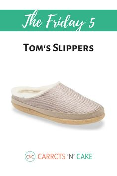 Since I have been at home SO much (haven't we all!?), I decided to upgrade my old pair of slippers. I found this cute pair of Tom's slippers from Nordstrom, and I love them. They're super cozy! They make a slip-on version, too. Definitely check them out!
