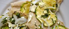 Grilled Zucchini Pizza with Cilantro and Queso Fresco