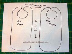 Michele Bilyeu Creates *With Heart and Hands*: Making an Adult Bib Baby Bibs Patterns, Crochet Blanket Patterns, Crochet Stitches, Sewing Patterns, Apron Patterns, Bib Pattern, Free Pattern, Baby Bib Tutorial, Nursing Home Gifts