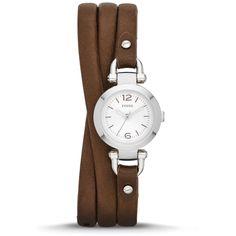 Fossil Damen-Armbanduhr XS Analog Quarz Leder ES3455: Amazon.de: Uhren