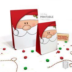Christmas Gift bag Favour bag Gift bag Christmas by zeewilldraw