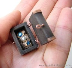 how to: polyclay treasure chest