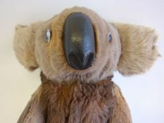 Antique Australian Koala Bear with real Fur, Circa 1940