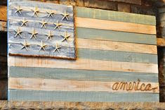 Serendipity Refined Blog: Pallet Wood Fence Board American Flag DIY