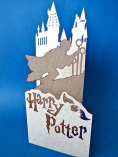 Harry Potter Standing Trifold Card by thedaydreamprincess on Etsy, $11.00