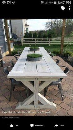 Farmhouse table for outside