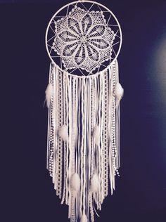 Large White Doily Dream Catcher / Handmade by somemightcallitcrazy
