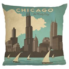 Chicago Pillow by Anderson Design Group/ im coming back chitown
