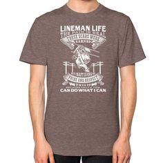 LINEMAN LIFE Unisex T-Shirt (on man)