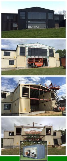 Container house small design and container homes interior design. Shipping Container Buildings, Shipping Container Home Designs, Shipping Container House Plans, Container House Design, Shipping Containers, Casas Containers, Building A Container Home, House Made, Building A House