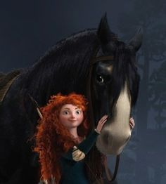 Merida and her trusty steed Angus from Brave...because they are insanely awesome :)