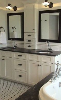 cabinet design Jack And Jill Traditional Bathroom Design, Pictures, Remodel, Decor and Ideas - page 76 #masterbathroomcabinets