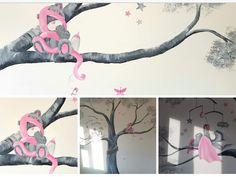 Muurschildering just for you bears