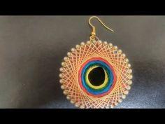Baby size bangle into silk thread earring - YouTube
