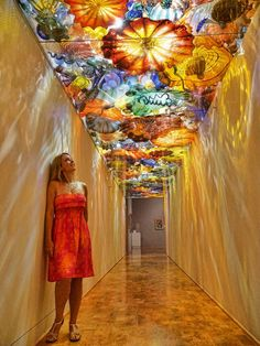 Beautiful Dale Chihuly glasswork at Artis-Naples in Naples, Florida. Fantastic Art and Cultural Attractions in Naples, Florida
