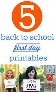 You've seen all of the photos of the kids on their first day of school, right?  Well here are 5 of my favorite free back to school photo printables.