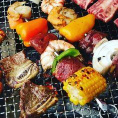 天気いいから  BBQ〰〰〰🎵🎵🎵🎵 みんな早くこーーい(^-^) #BBQ#天気 #バーベキュー #夏の終わり #楽しい#仲間 #大好きな#友達 #肉#魚#野菜 #ビール#酎ハイ #思い出#30代 #オヤジ#オヤジ臭