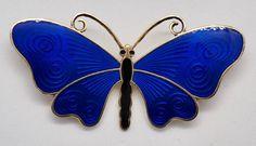 Brosje i sølv med blå emalje - O. F. Hjortdahl Eagles, Earrings, Jewelry, Fashion, Ear Rings, Moda, Stud Earrings, Jewlery, Eagle