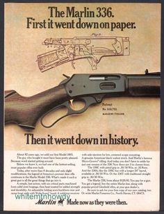 1975 MARLIN 336 Rifle AD w/ original patent drawing