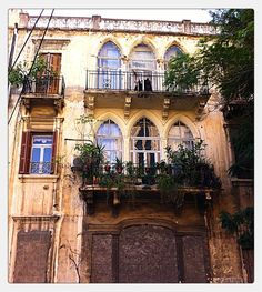 "CTR: Maybe this mixes the New Orleans style I like outside with the Mediterranean I like inside? Lebanese! But not as run down looking  "" with Kantari, Beirut, Lebanon - traditional architecture"""